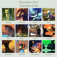 2012 Summary of Art by OrcaOwl