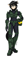 Skye as Master Chief by Kivwolf