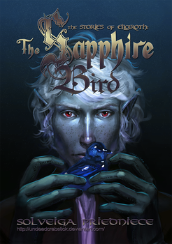 The Sapphire Bird book cover art + text by undeadcrabstick