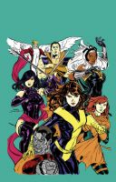 My Colors of Terry Dodson's X-Men by fmvra1s
