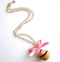 Cupcake Necklace Giveaway by FatallyFeminine