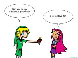 Valentine's Day - LinkStar (Teen Titans Go!) by LinkStar-Number1