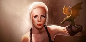 Khaleesi - The mother of dragons portrait by mannequin-atelier