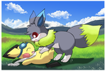 Friendly Tackle by pichu90