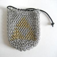 Chainmaile Triforce Bag by crazed-fangirl