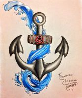 Anchor + Water by fepmoreira