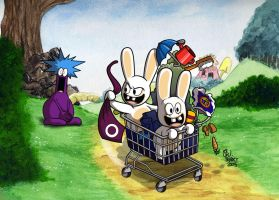 Bunnies Are Hoarders by MableTheRabbid
