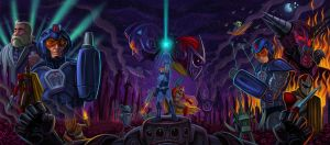 Mega Man 10 Tryptich by jdjartist