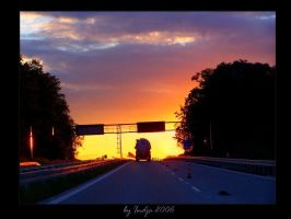 Road to sunset by indja-art
