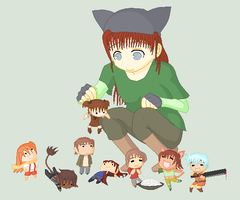 -: Yes, my little chibies :- by fl00fy