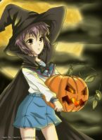 Yuki Nagato Halloween Witch by CarmenMCS