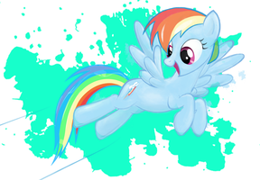 20% cooler Rainbow Dash by mafinzy
