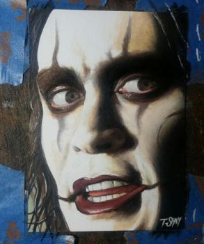 Eric Draven The Crow sketch by Dr-Horrible