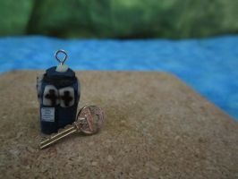 Tardis Charm and Key by sonickingscrewdriver