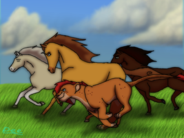 Racing Horses by Demi-Dee96