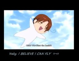 I believe Italy can fly....veeee~ by Kida-neechan