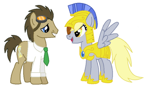 Time Turner and General Derpy by TimeTwist1