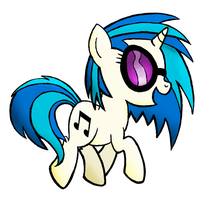Vinyl Scratch Prancing by drawponies
