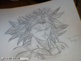 Drawing of Broly by StaticFOOL100