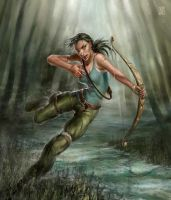 Lara Croft  survivor by Sophia-M