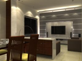 Living Room _ Mr. Tushar by psd0503