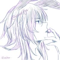 Kluster the rabbit by risaXillya