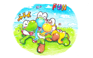 Yoshi tickle by PaperLillie