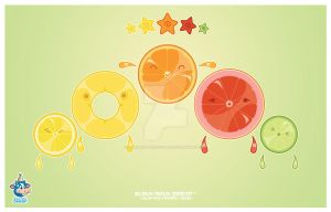 Kawaii Citrus Fruit Slices by KawaiiUniverseStudio