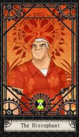 Ben 10 Tarot- 5. The Hierophan by CheshireP