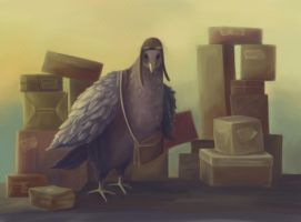 Messenger-pigeon by Fiction69