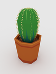 Lowpoly cactus by Foxelbox