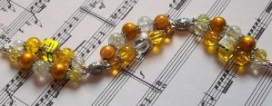 yellow and silver two strand bracelet by TerraNovaJewels