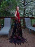 The Girl On Fire no. 3 by CalexandraDesigns