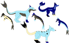 Merolf pups 1 by Albtraums-Adopts