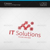IT Solutions Logo by artnook