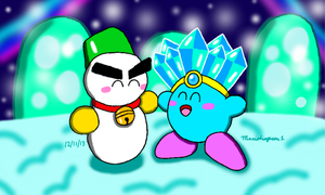 Kirby and Chilly by MarioSimpson1