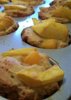 Ricotta Peach Muffins by cosmicspider