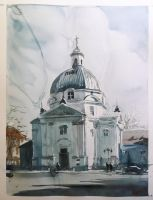 Church on the New Market Square in Warsaw by terton