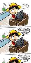 WHEN LUFFY FINDS YAOI by Spilled-Sunlight