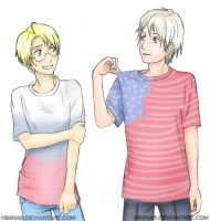 Hetalia - Alfred and Vanya by Himnar