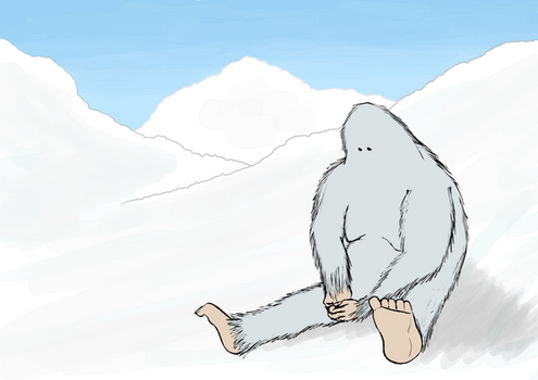 lonely yeti by C0mBineD