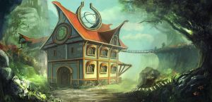 A Fantasy House by mrainbowwj
