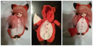 Red fox YoSD kigurumi by Dolly-Lover