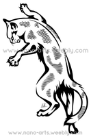 Climber Cat Tribal by Therbis
