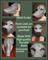 Mask Blank Canine Sculpt by Gretters