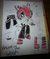 NEW: Vincent the wolf by XxChained2DarknessXx
