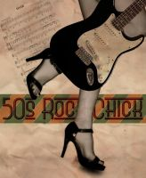 50s Rock Chick Poster by cazcastalla