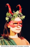 Dionysus - theater mask by Alyssa-Ravenwood