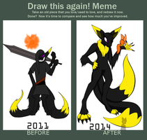 Draw It Again Meme by IceDragonQueen22