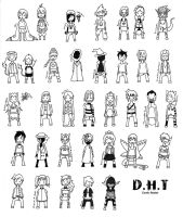 DHT Comic Roster by Coffee-Brown